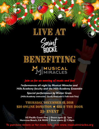 Musical Miracles Sainte Rocke Flyer 2018 FINAL te